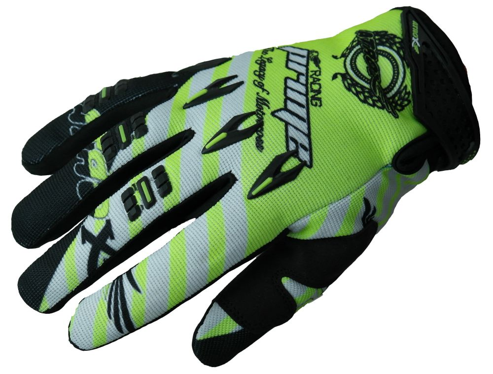Heyberry MX-Cross Quad Motocross  Handschuhe schwarz weiß grün M L XL XXL